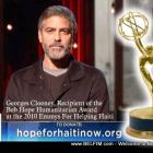 Georges Clooney Awarded Emmy Award For Helping Haiti