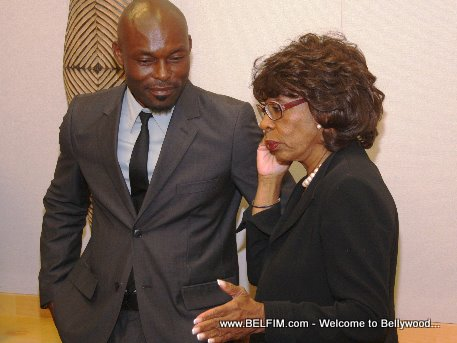 Jimmy Jean Louis and Congresswoman Maxine Waters
