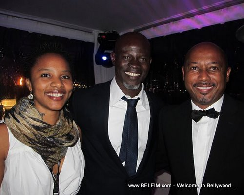 Gessica Geneus, Djimon Hounsou and Raoul Peck at Cannes Film Festival