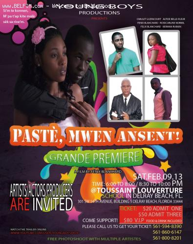 Paste, Mwen Ansent - Movie Poster