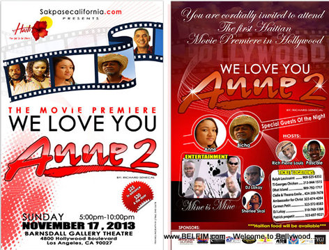 We Love You Anne - Hollywood Premiere Flyer