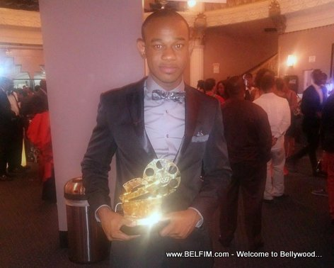 Perri Pierre Holding his African Oscar