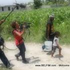 Rachele Magloire filming her movie DEPORTED in Haiti