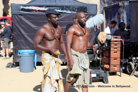 PHOTO: Wyclef and AKON on the set of movie Black November