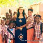 RE: Actress Garcelle Beauvais visits a school in Haiti