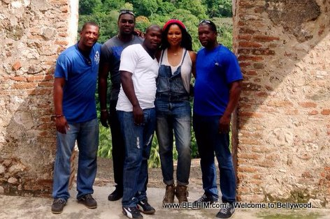 Actress Garcelle Beauvais in Haiti