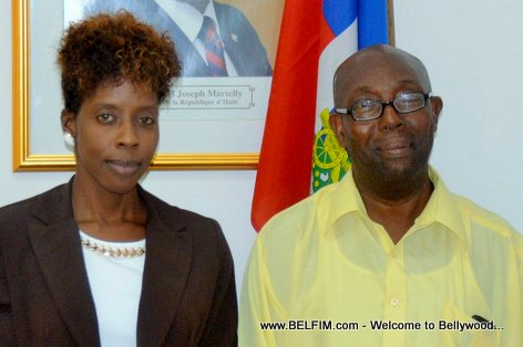 Bos Macel Saurel Charles meet Haiti Culture Minister Dithny Joan Raton