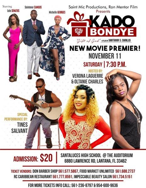 Kado Bondye Movie Showtime Poster - Lantana FL