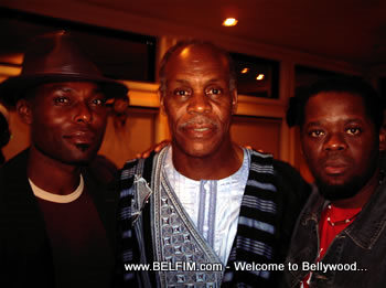 Herold, Jimmy, and Danny at the Pan African Film Festival Party