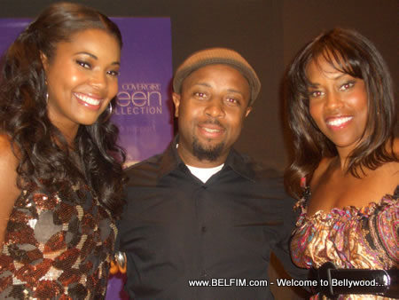 Patrick Ulysse in the arms of Gabrielle Union and Regina King