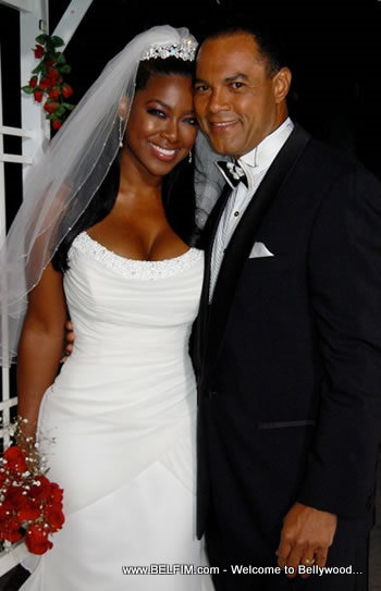 Rudolph Moise And Kenya Moore Marriage Photo