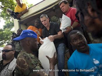 Matt Damon & Wyclef Jean in Haiti