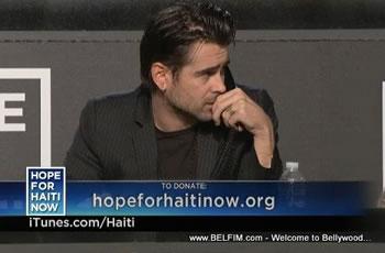 Colin Farrell - Hope For Haiti Now Telethon
