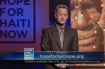 Tom Hanks - Hope For Haiti Now Telethon