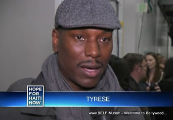 Tyrese Gibson - Hope For Haiti Now Telethon