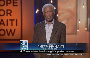 Morgan Freeman - Hope For Haiti Now Telethon