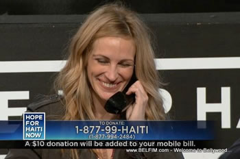Julia Roberts - Hope For Haiti Now Telethon